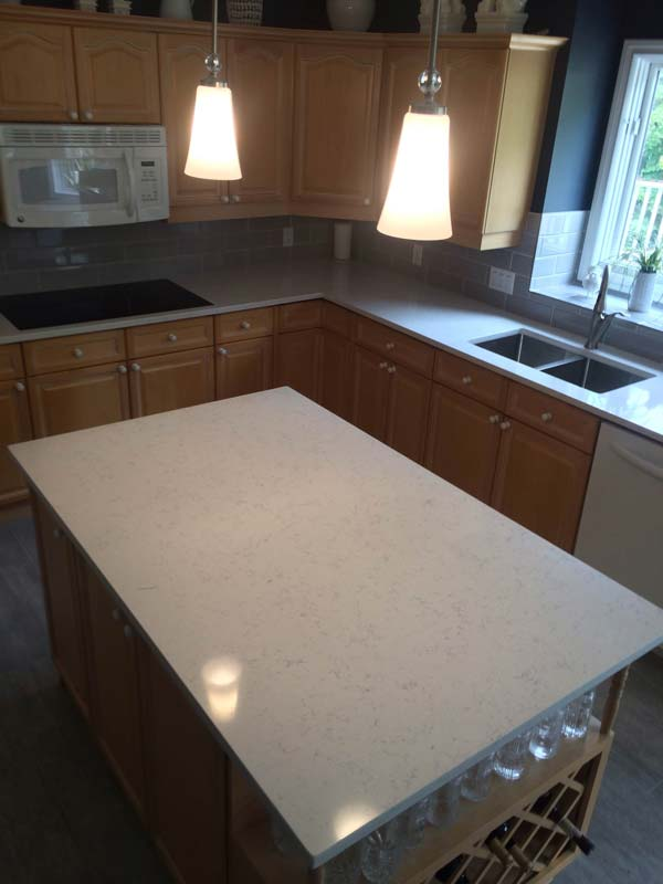 Regent Granite Counters – Super White Granite Project