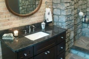 Ballymote Project Custom Granite Bathroom Countertop