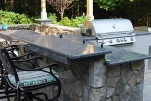 Custom Granite Countertop for Outdoor Entertaining
