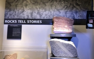 A look at the rocks, natural stones and granite at the Smithsonian Museum in Washington